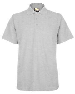 Mens Polo Pique Classic T Shirt BIG Size 4XL XXXXL - SPORTS WORK LEISURE CASUAL