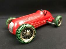 METTOY RED RACING CAR SINGLE SEATER TIN PLATE CLOCKWORK FRICTION WIND UP