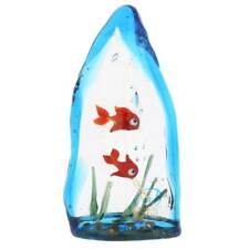 GlassOfVenice Murano Glass Aquarium With Two Tropical Fish - 4 inches