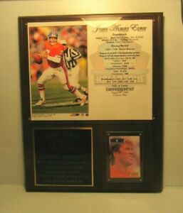 John Elway Hall of Fame Induction Plaque 2004