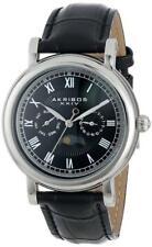 Akribos XXIV Men's AK635SSB Retro Multifunction Silver-tone Stainless Steel Blac
