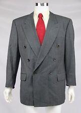 Hugo Boss Mens Zeus Akropolis Size 42R Gray Double Breasted 100% Wool Suit Coat