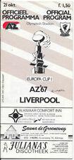 Liverpool Away Team Written - on Football Programmes