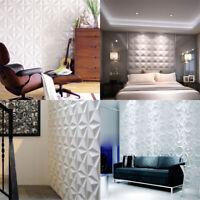 12Pcs 3D Wall Panel Decoration Ceiling Tiles Wallpaper Background Sticker