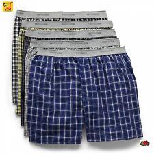 Fruit of the Loom Men's Tartan / Woven Boxer Shorts in Famous Brand Pkg 3-Packs