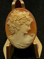 Antique Hand Carved Shell Cameo of Demeter Gorgeous