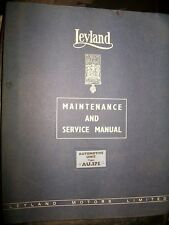 Leyland automotive AU.375 : Maintenance handbook
