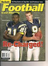 LADAINIAN TOMLINSON & DREW BREES SAN DIEGO CHARGERS BECKETT FOOTBALL MONTHLY 01