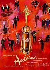 1950 CIRO Acclaim Perfume Vintage Bottle PRINT AD