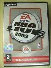 NBA Live 2003 - PC gioco di pallacanestro video game sport basket