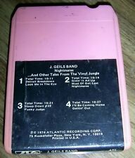 THE J GEILS BAND Three 8 Track Tapes HOTLINE NIGHTMARES HOTLINE &BLOW FACE OUT