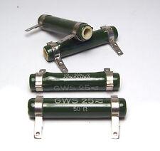 4x Rosenthal Draht-Widerstand 50 Ohm / 25 Watt, GWS 25, glasiert