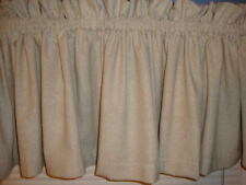 Farmhouse Country Muslin Valance Curtain New Extra Wide Primitive Window Custom