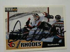 Damian Rhodes Ottawa Senators Toronto Maple Leafs autographed card #2