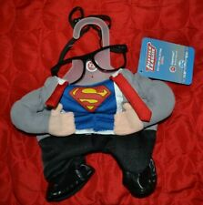 Superman Illusion Suit Dog Costume w/ Glasses Superhero Justice League Halloween