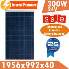 300w 24v Solar Panel Poly Portable Camping Caravan Power Generator Battery