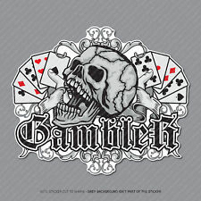 Gambler Calavera Pegatina Calcomanía Laptop PC iPad Patineta teléfono Poker-SKU2911