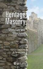 Heritage Masonry: Materials and Structures (WIT Transactions on State-of-the-art