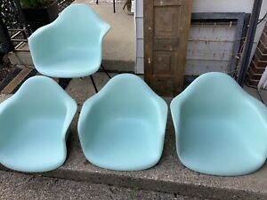 Herman Miller Charles Eames Plastic Arm Shell Chair Light Blue