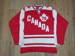 Canada ultra rare vintage 1979 Maska Hockey jersey size M