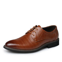 Mens European Style Oxfords Leather Shoes Dress Formal Business Casual Loafers