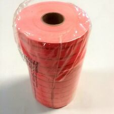 New 10 Rolls Adhesive Fluorescent Pricing Tickets - For Older Ticket Machines