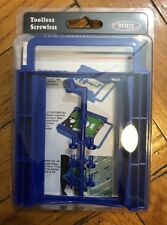 """2.5"""" Dual HDD/SSD Screwless Mounting Bracket For 3.5"""" Hard Drive Bay - Blue"""