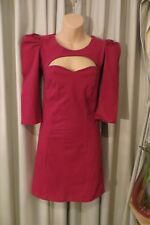 VINTAGE  ~  RISE of DAWN ~ Hot Pink Cut/Outs  CON DRESS * Size 4 *
