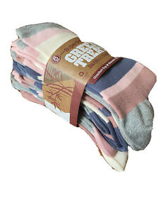 Green Treat Supersoft Ladies Bamboo Socks in Stripes 8 Pack Great Value