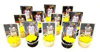 LA Lakers LEBRON JAMES Basketball Card 12 Piece Cupcake Topper Party Favor Set