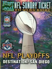 1998 First & Goal NFL Sunday Ticket Viewers' Guide Magazine: Super Bowl Trophy