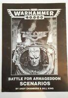 WARHAMMER 40K 40,000: Battle for Armageddon Scenarios book supplement (1993)