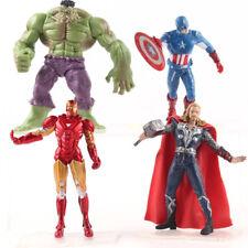 4 pcs/set Marvel Avengers Iron Man Captain America Thor Hulk PVC Statue Figure