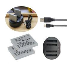 2X Battery NB-4L + USB-Charger for Canon PowerShot ELPH 300 HS 310 HS 330 HS