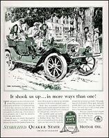 1941 James Montgomery Flagg art Quaker State Motor Oil vintage Print Ad adL13