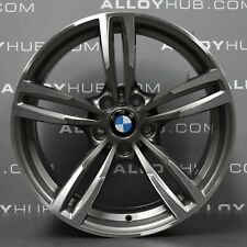 "GENUINE BMW M2 M3 M4 437M SPORT 19"" INCH FERRIC GREY SINGLE REAR ALLOY WHEEL X1"