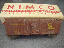 Nimco S Scale Nicely Built & Weathered Chesapeake & Ohio 40'' Box Car In O. B.