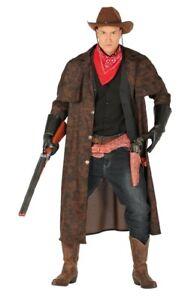 Herren Cowboy Mantel mit Halstuch Gr. L Staubmantel Western Kostüm Wilder Westen