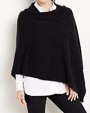 NEW$149 J.Jill Luxe Wool & Cashmere Wrap Scarf Pashmina BLACK 30x68 one size