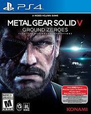 PLAYSTATION 4 PS4 GAME METAL GEAR SOLID V GROUND ZEROES NEW AND SEALED