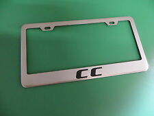 """(1pc)"""" CC """" Volkswagen Stainless Steel license plate frame"""
