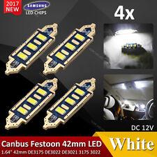 4X 42mm 3SMD LED C5W CANBUS NO ERROR FREE WHITE INTERIOR LIGHT DOME FESTOON BULB