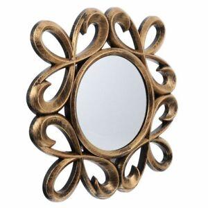 Wall Mirror 3pcs Set Small Round Accent Decorative Bronze Ornate Wall Mirrors