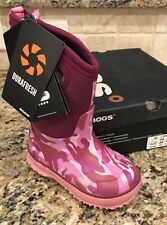 Bogs Youth Classic Pink Camo Size 8 Youth New With Box Nice