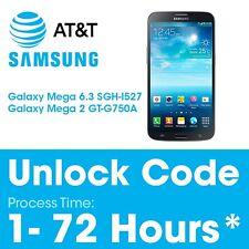 At&t Unlock Code Network PIN Samsung Galaxy Mega 6.3 SGH-I527 / Mega 2 GT-G750A