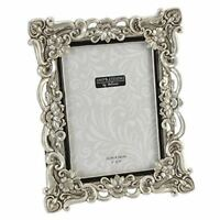 """Antique Silver Vintage Ornate Shabby Chic Picture Photo Frame 7"""" X 5"""" FR47757"""