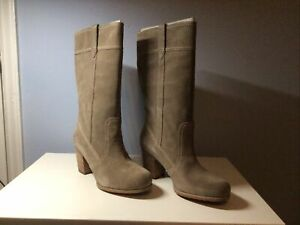 Boots Timberland Rudston Suede Taupe Woman 11W Waterproof