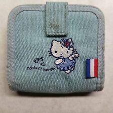 Hello Kitty Blue Wallet Purse Card Holder