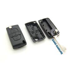 Coque clé plip télécommande 4 Boutons Peugeot 807 1007 Sans Rainure