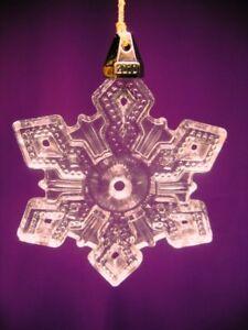 MARQUIS 2010 ANNUAL SNOWFLAKE LEAD CRYSTAL CHRISTMAS ORNAMENT BY WATERFORD NIB
